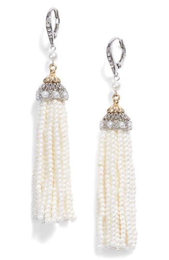 Jenny Packham Imitation Pearl Tassel Earrings