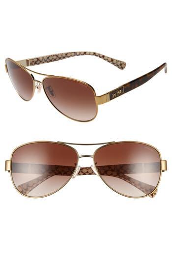 COACH 59mm Gradient Aviator Sunglasses