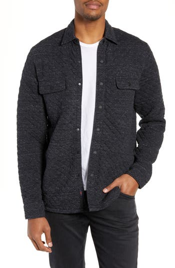 Faherty Belmar Regular Fit Quilted Shirt Jacket