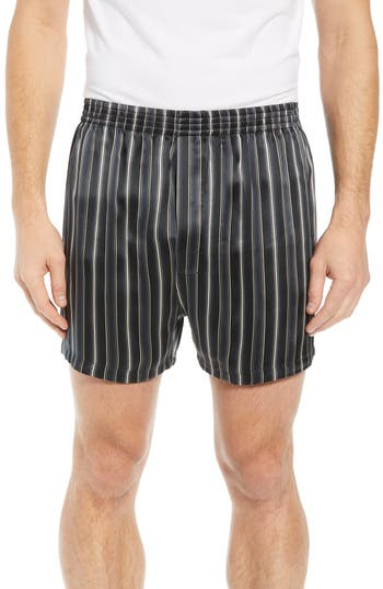 Majestic International Fresh Ink Stripe Silk Boxers