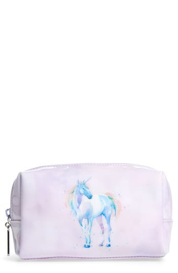Catseye London Watercolor Unicorn Cosmetics Case