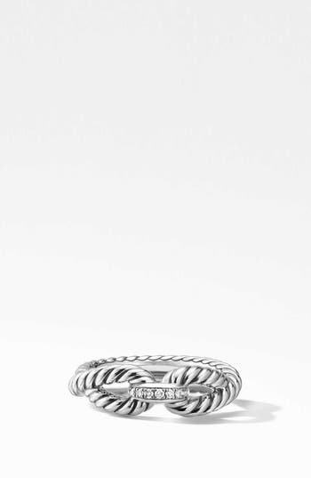 David Yurman Cable Loop Ring with Diamonds