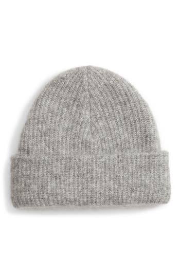 Ganni Soft Wool Blend Knit Beanie