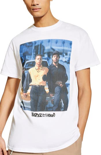 Topman 'Boyz n the Hood' Crewneck T-Shirt