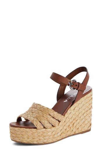 Prada Espadrille Wedge Sandal
