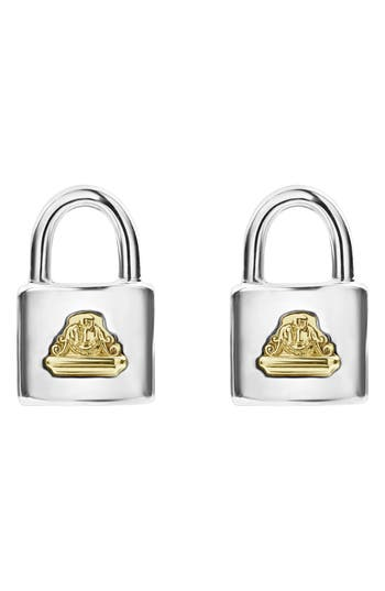 LAGOS Beloved Small Lock Stud Earrings