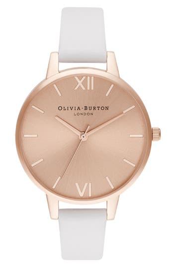Olivia Burton Leather Strap Watch, 34mm
