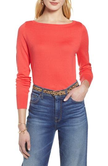 Halogen® Bateau Neck Sweater