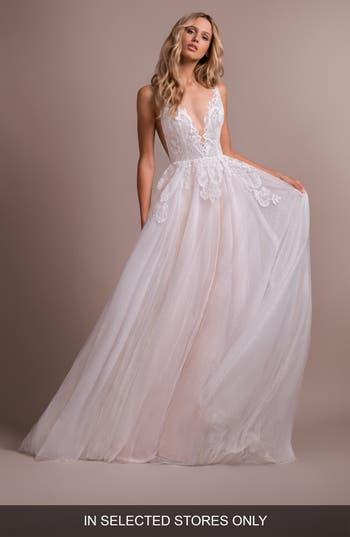 Hayley Paige Nash V-Neck Lace Wedding Dress