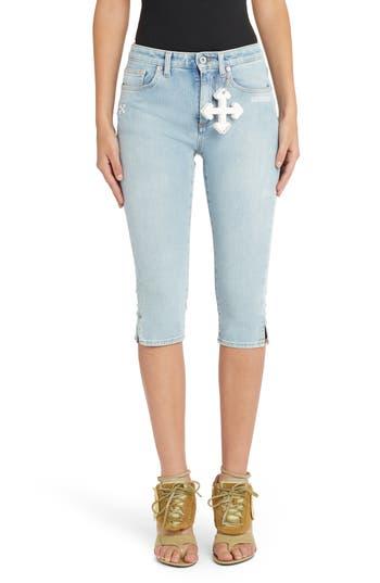 Off-White Denim Capri Jeans