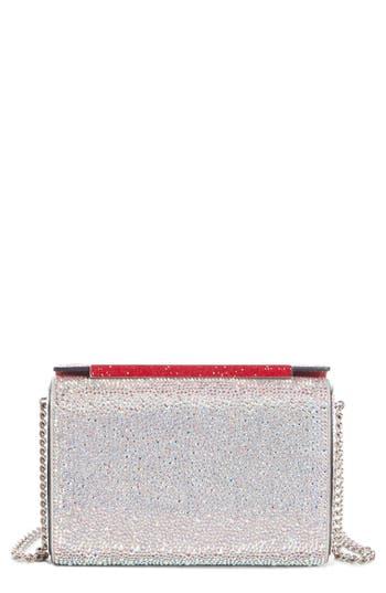 Christian Louboutin Large Vanite Crystal Embellished Clutch