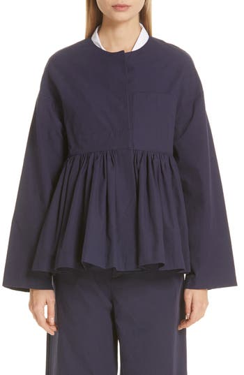 Sara Lanzi Gathered Cotton Jacket