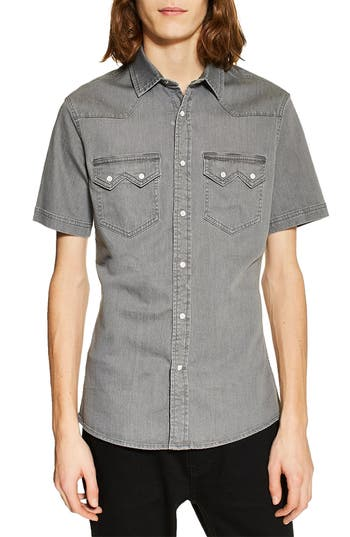 Topman Western Denim Shirt