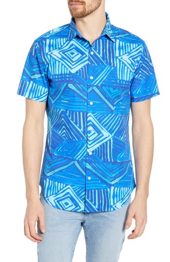 Bonobos Amalfi Premium Slim Fit Print Cotton Sport Shirt