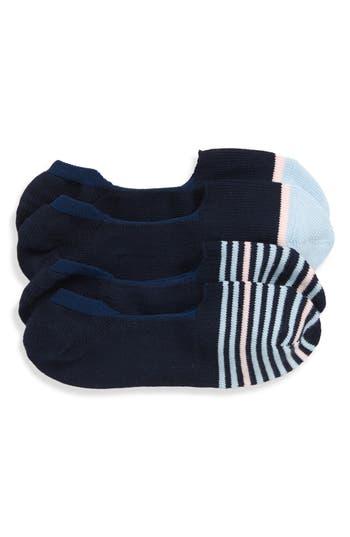 Nordstrom Men's Shop Assorted 2-Pack Loafer Liner Socks