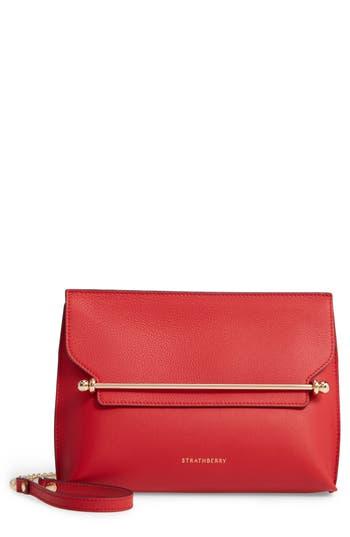 Strathberry East/West Stylist Calfskin Leather Clutch