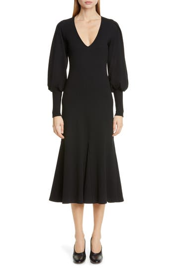 Beaufille Flora Long Sleeve Midi Dress