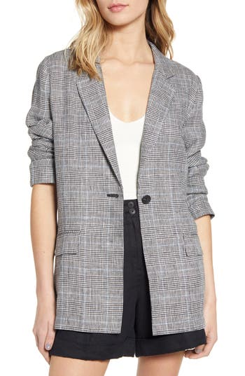 Chelsea28 Single Button Linen Blazer