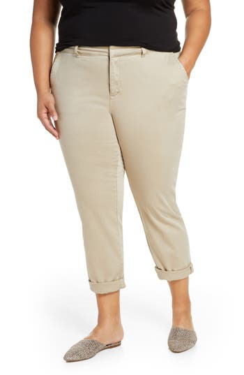 Caslon® Chino Pants (Plus Size)