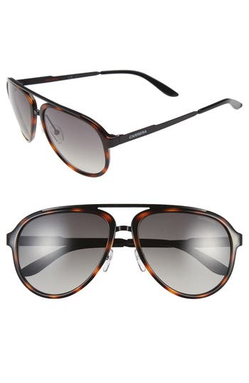 Men's Carrera Eyewear 58Mm Aviator Sunglasses - Havana/ Brown Gradient