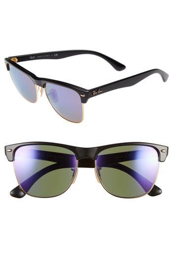 Ray-Ban Highstreet 57Mm Sunglasses - Black/ Purple Mirror
