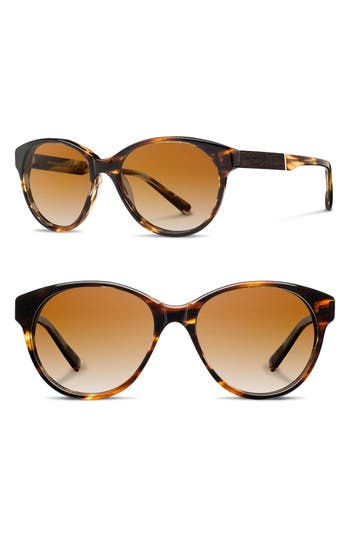 Women's Shwood 'Madison' 54Mm Polarized Sunglasses - Tortoise/ Ebony/ Brown Polar
