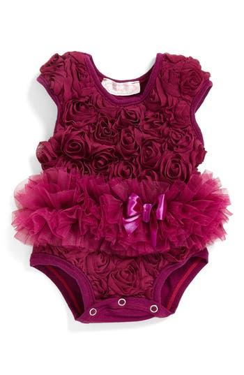 Infant Girls Popatu Ribbon Rosette Flower Bodysuit