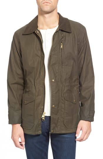 Men's Filson 'Cover Cloth Mile Marker' Waxed Cotton Coat