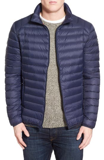 Schott Nyc Quilted Down Jacket, Blue
