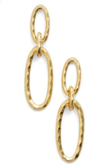 Karine Sultan Double Oval Link Earrings