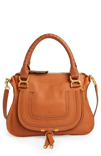 Chloe 'Medium Marcie' Leather Satchel - Beige at NORDSTROM.com