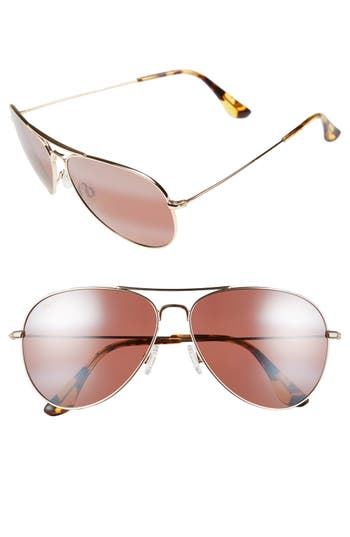 Maui Jim Mavericks 61Mm Polarizedplus2 Aviator Sunglasses -