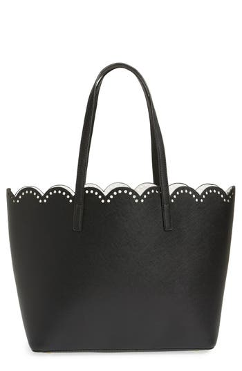 Junior Women's Bp. Scalloped Faux Leather Tote -