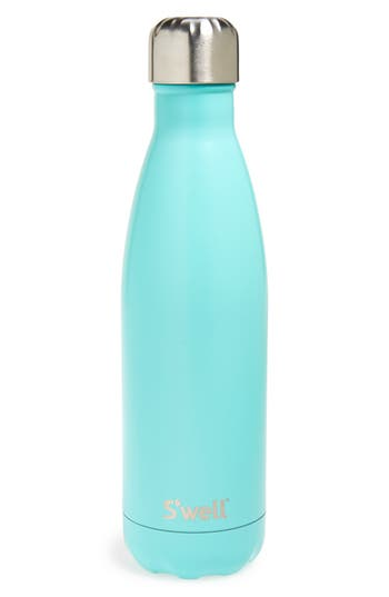 S'Well 'Turquoise Blue' Stainless Steel Water Bottle, Size 17 oz - Blue/green