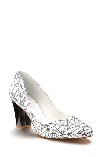 Shoes Of Prey Block Heel Pump - White