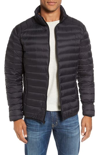 Schott Nyc Quilted Down Jacket, Black