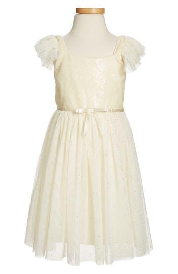 Girls Popatu Sequin Bodice Tulle Dress