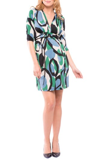 Olian Lindsey Print Maternity Dress