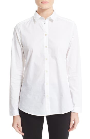 Women's Burberry Stretch Poplin Shirt