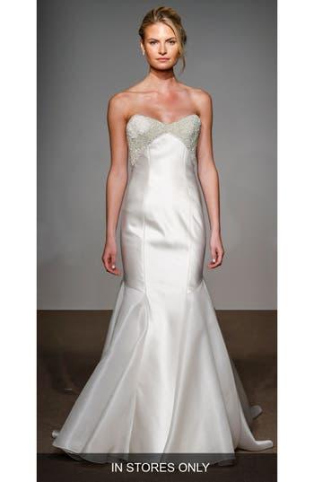 Anna Maier Couture Helene Strapless Silk Duchess Satin Gown