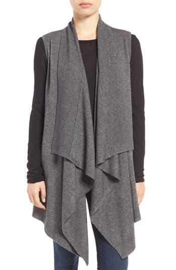 Women's Halogen Wool & Cashmere Drape Front Sweater Vest