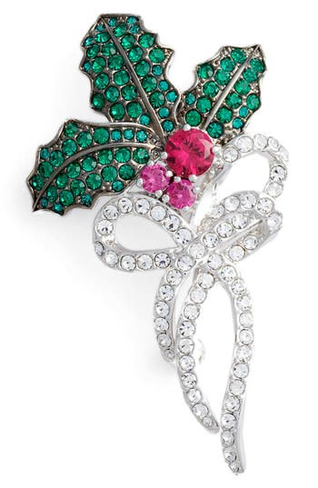 Women's Nadri Jolly Mistletoe Pin