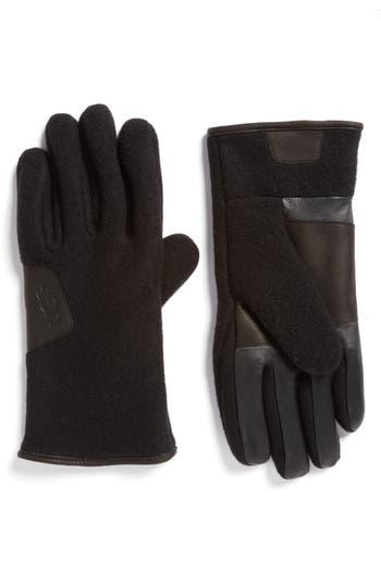 Ugg Wool Blend Tech Gloves, Black