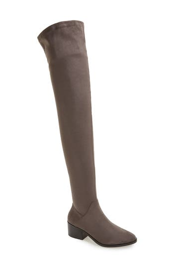 Steve Madden Gabriana Stretch Over The Knee Boot- Grey