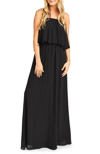 Show Me Your Mumu Hacienda Convertible Gown, Black