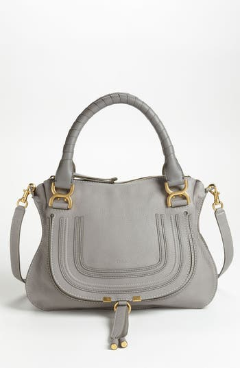 Chloe 'Medium Marcie' Leather Satchel - Grey at NORDSTROM.com