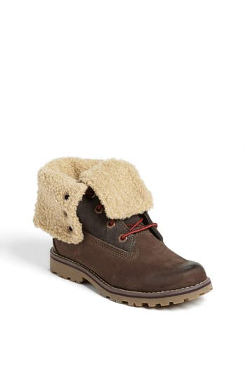 Boy's Timberland Genuine Shearling Boot