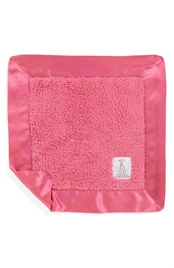 Little Giraffe Satin Trim Chenille Blanky, Size One Size - Pink