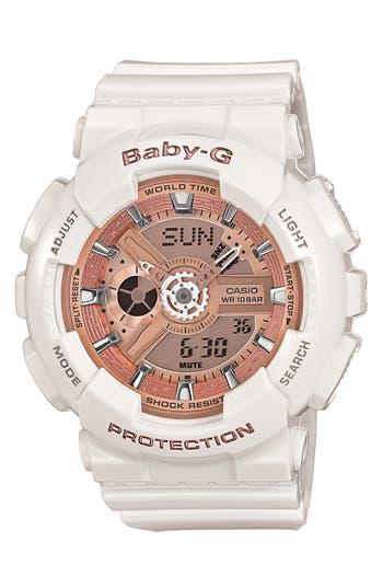 Baby-G 'Mini Gloss' Ana-Digi Watch, 43mm