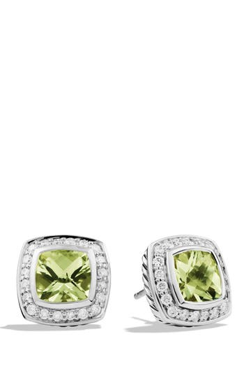 Women's David Yurman 'Albion' Petite Earrings With Semiprecious Stones & Diamonds